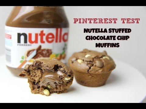 PINTEREST TEST: NUTELLA STUFFED CHOCOLATE CHIP MUFFINS