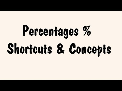 Percentages SSC CGL [ Concepts , SHORTCUTS and TRICKS ]