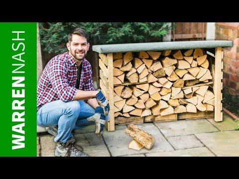 Make a Pallet Log Store IN A DAY - DIY Pallet Wood Projects by Warren Nash