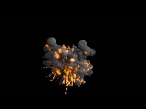 Blender Explosion Simulation, Cycles Render, Tutorial Preview