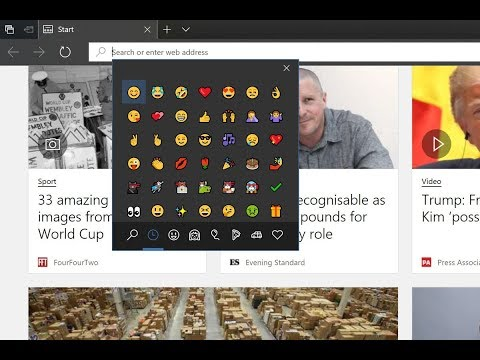 How to enable the Windows 10 emoji picker