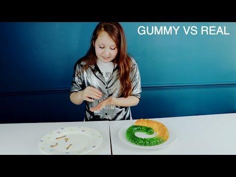REAL FOOD VS GUMMY FOOD!!