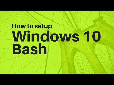 How To Install Windows 10 Bash - Windows Subsystem for Linux