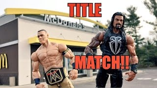 GTS WRESTLING: McDonalds FOOD FIGHT! WWE Mattel Figure Animation PPV Event!