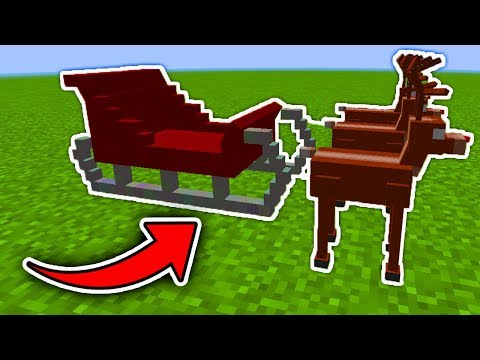 Minecraft  : How To Make Santa's Sleigh (No Mods)(Ps3/Xbox360/PS4/XboxOne/WiiU)
