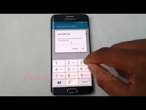 Android Lollipop : How to Enable or disable Lock SIM Card on Samsung Galaxy S6