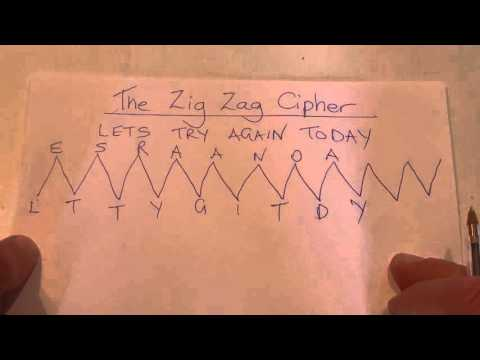 How to Create a Coded Message - Zig Zag Method - Secret Code - Step by Step Instructions