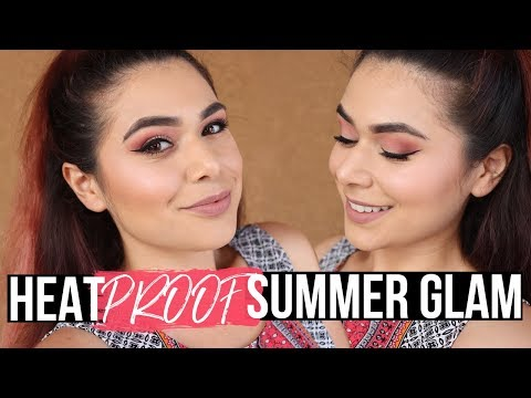 Heat Proof Summer Glam Makeup | Kokie Peachy Queen Palette