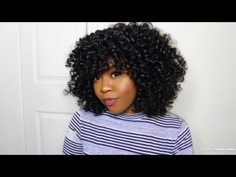 Most Natural Looking Curly Crochet Braids Tutorial| Mane Concept
