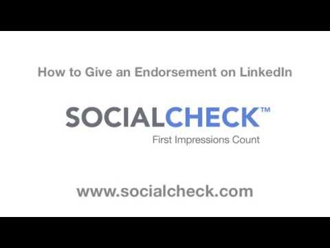How to Give an Endorsement on LinkedIn