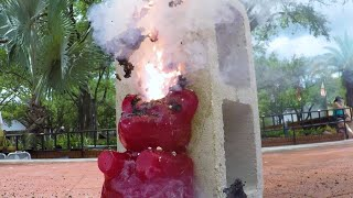 Caution! Explosive Gummy Bear! | Street Science