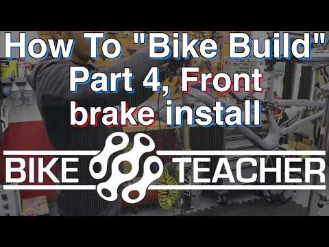How to install a Shimano front hydraulic disc brake caliper.