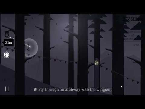 Alto's Adventure - Fly through an archway with the wingsuit