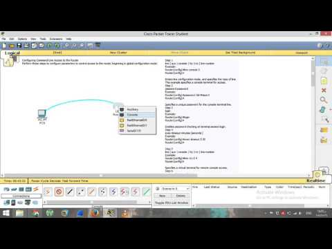 3- How to Configuring Command-Line Access to Cisco Router - CCNA