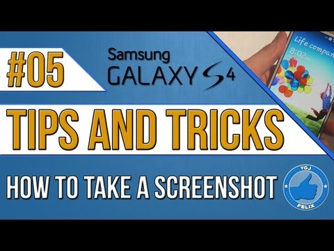 Samsung Galaxy S4 Tips and Tricks #5: How to Take a Screenshot