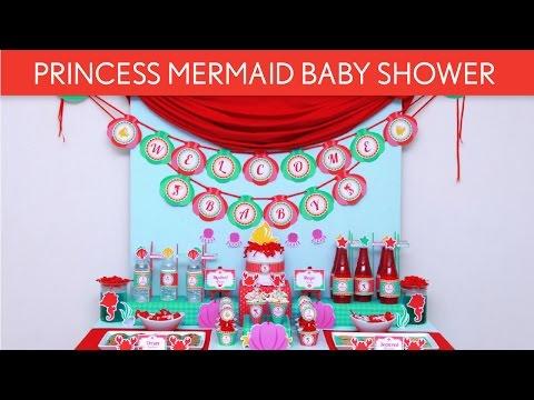 Princess Mermaid Baby Shower // Judul Tema - S44