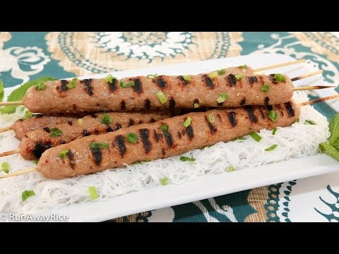 Grilled Pork Sausages (Nem Nuong)