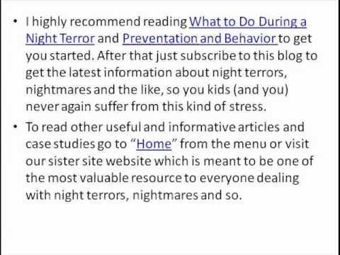 Night Terrors Children