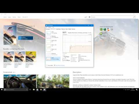 How to see current download speed in Windows Store