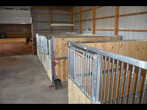 Installing Best Ramm Portable Panel Horse Stalls.