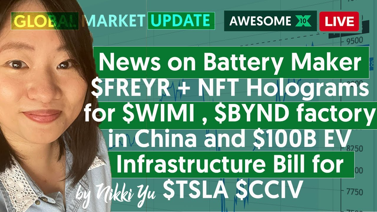 🔴 News on Battery Maker $FREYR +NFT Holograms for $WIMI , $BYND factory in China &$100B EV InfraBill
