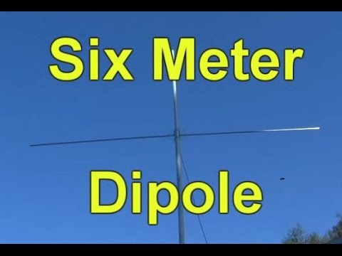 How to Build a Six Meter Ham Radio Dipole Antenna