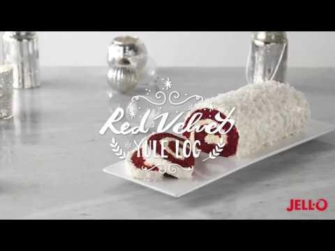Red Velvet Yule Log Cake | JELL-O