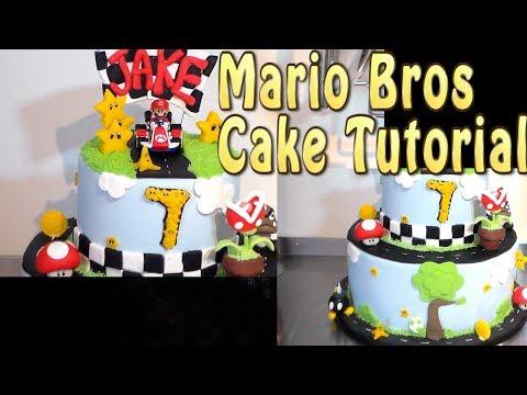 Mario Bros Cake Tutorial by Cup n Cakes Gourmet