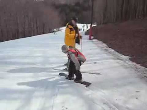 B-Cam Snowboarding for the first time
