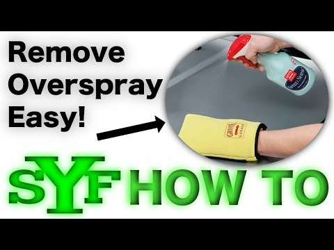 How to Remove Overspray