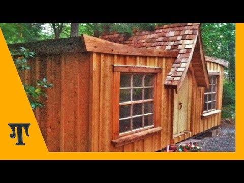 Shipping container conversion series video 15  (wood siding installation)