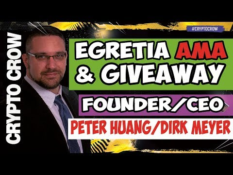 EGRETIA Live Interview with Peter Huang & Dirk Meyer  Egretia.io 💯💰