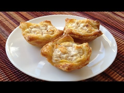 Asian Pear and Goat Cheese Tartlets