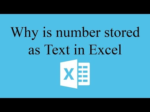 How to store numbers as text in Excel | Hindi