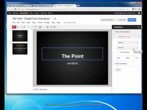 How To Animate a Google Docs Presentation