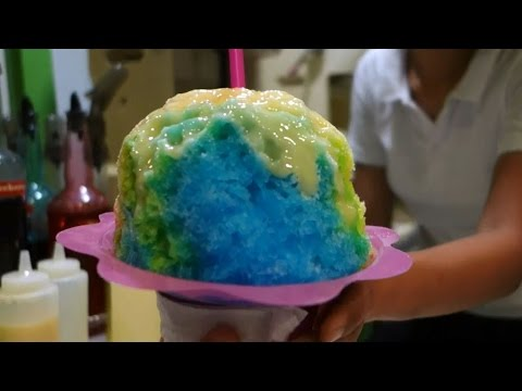 Making Rainbow Shaved Ice Philippines Streetfood Mall of Asia
