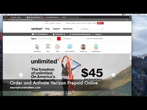 Order and Activate Verizon Prepaid Online