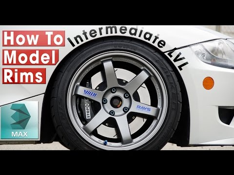 How to Model Rims in 3ds Max - How to build a car #1