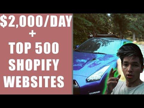 HOW I MADE $2,000 /DAY THROUGH SHOPIFY DROP SHIPPING + TOP 500 SHOPIFY SITES YOU NEED TO SEE