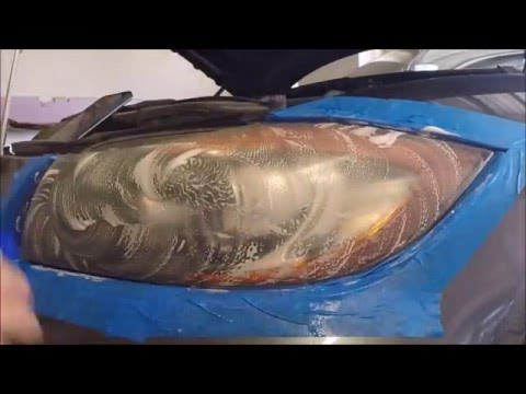 BMW tint removal and headlight sanding/polishing