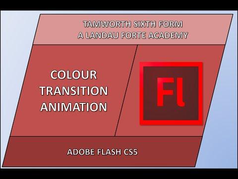 Flash CS5 Animation - Colour Transition