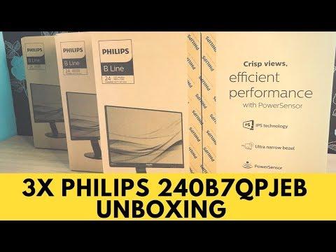 Philips Triple Monitor Unboxing & Setup 240B7QPJEB