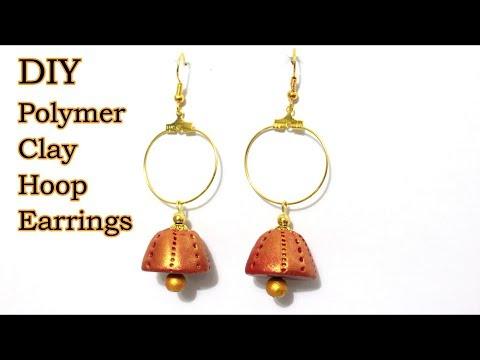 DIY Polymer Clay Hoop Earring Jhumkas