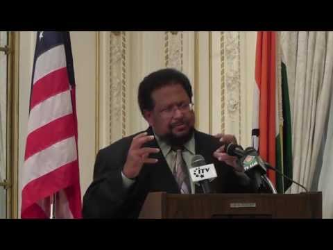 Aziz Haniffa At Indian Consulate New York