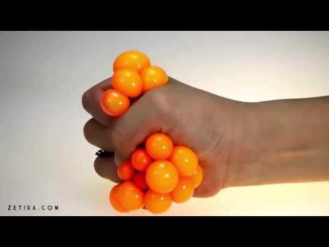 Cute Anti Stress Face Reliever Grape Ball