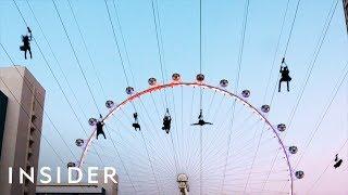 New Zipline Flies Over The Vegas Strip