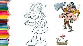 Vikingler Boyama Sayfası Videos 9tubetv