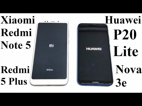 Huawei P20 Lite (Nova 3e) vs Xiaomi Redmi Note 5 / 5 Plus - SPEED TEST