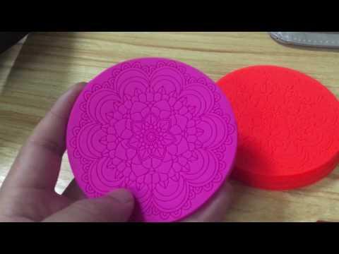 custom pvc rubber cup coaster