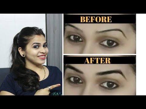HOW TO GROW THICK EYEBROWS IN 1 WEEK(OMG)